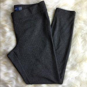 Old Navy Stevie gray herringbone legging pants